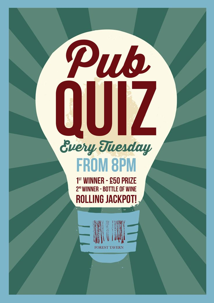38 best FlyersPosters images – Quiz Night Poster Template Free
