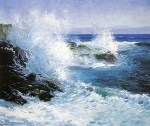 la mer vue d' `cliffs` - (Guy Orlando Rose)