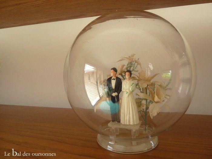 106 Blog Brocante Vintage Cloche Mariés Décoration Fifties