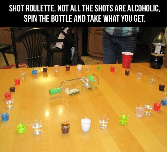 Shot Roulette… I'D DO THIS WITH SPRITE AND BEVERLY!!! Mom, I just like the idea :)
