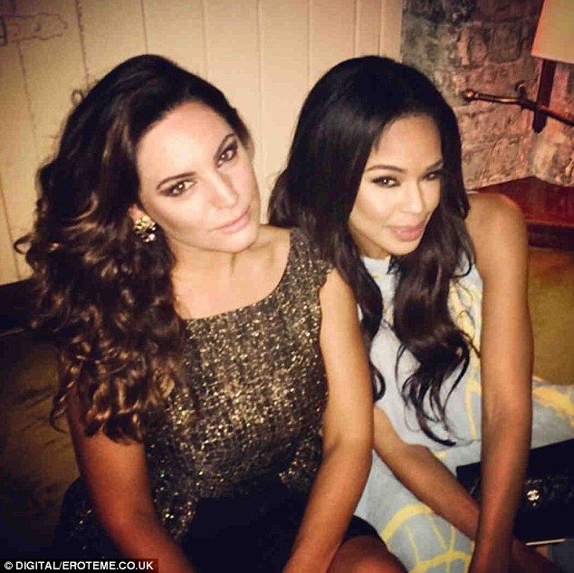 Television beauties: Handing down a few tips, Kelly shared snaps with Xtra Factor presenter Sarah-Jane Crawford