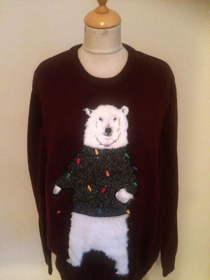 Mens Christmas Bear JUMPER SIZE L     By Next #NEXT #Jumpers