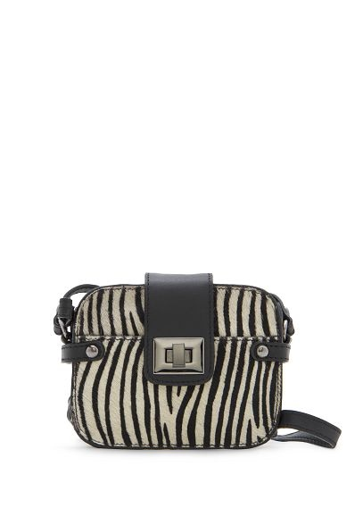 MANGO - TOUCH - Printed calf-hair shoulder bag