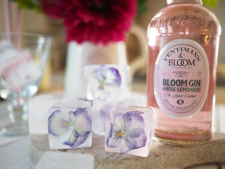 Floral Ice Cubes for Summer Drinks