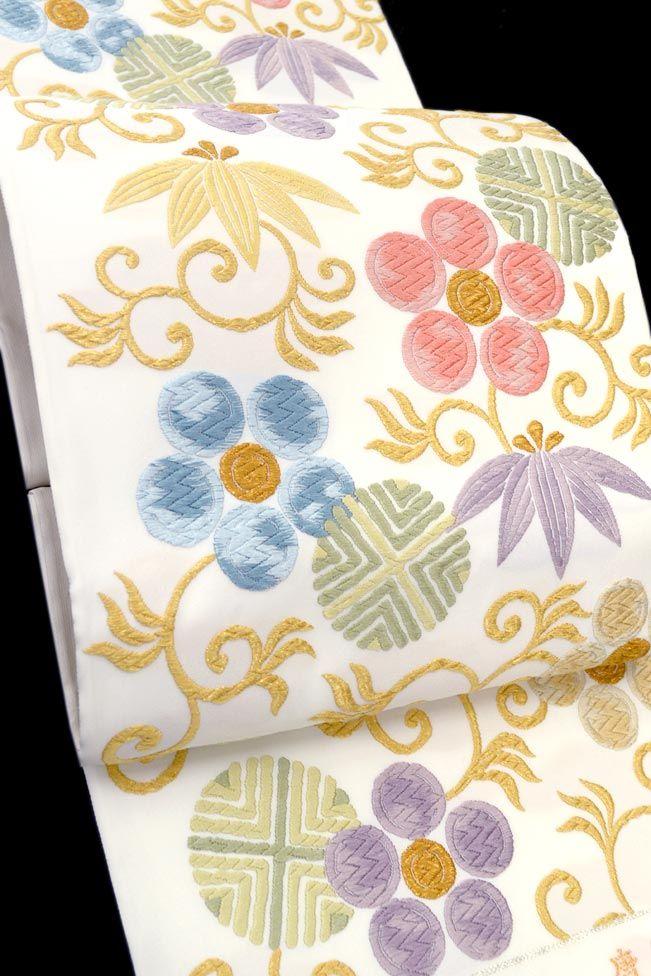 【洛陽織物】 特選西陣織袋帯 唐織綴 「笹蔓(ささづる)文」