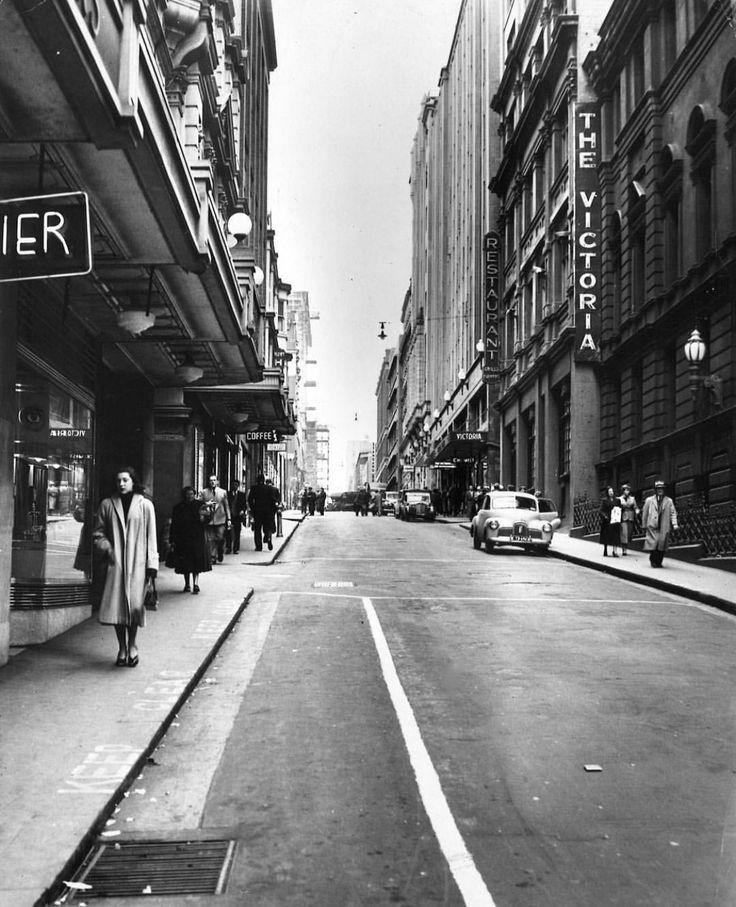 Little Collins Street 1953 Melbourne Victoria Australia