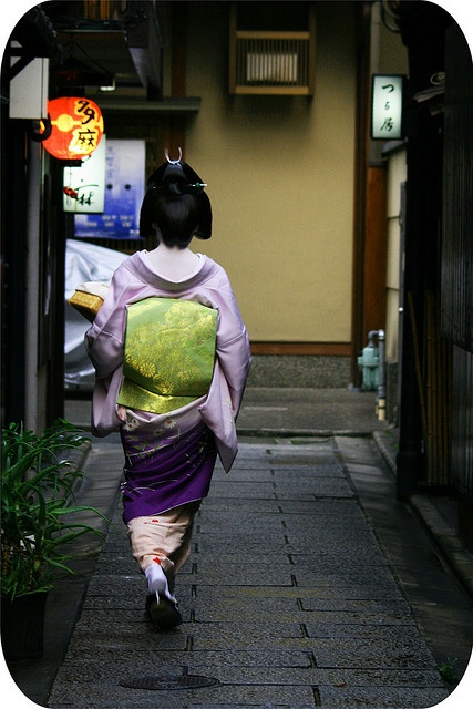 Geisha in Gion, Kyoto, Japan