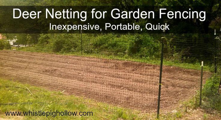 Deer netting: Inexpensive, quick, portable garden fencing. #garden