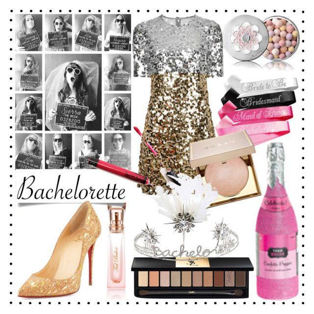 """#bachelorette #contest #polyvore"" by vikapranika on Polyvore featuring Ted Baker, Dolce&Gabbana, Kat Von D, Guerlain, Stila, Yves Saint Laurent, Betsey Johnson and Christian Louboutin"