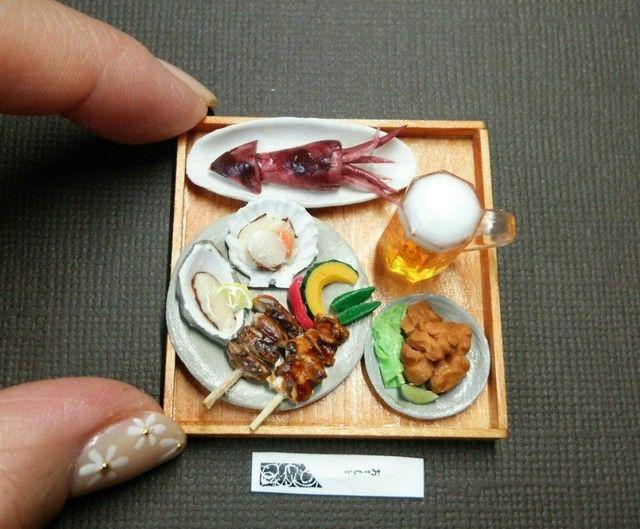 ミニチュア*居酒屋メニュー 炉端焼き