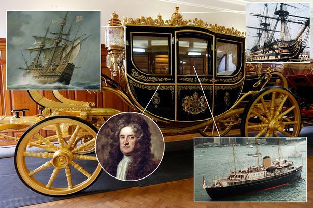 Queen's new carriage made from Isaac Newton's apple tree, Nelson's ship and Dambusters plane - Mirror Online