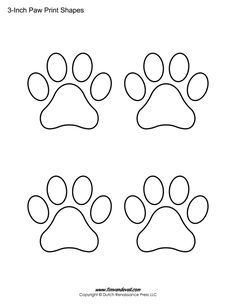 Paw Print Template Shapes Paw Print Clip Art Paw Print Drawing