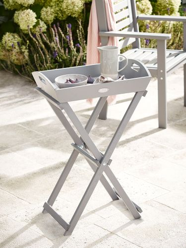 Provence Butlers Tray Table - Dove Grey