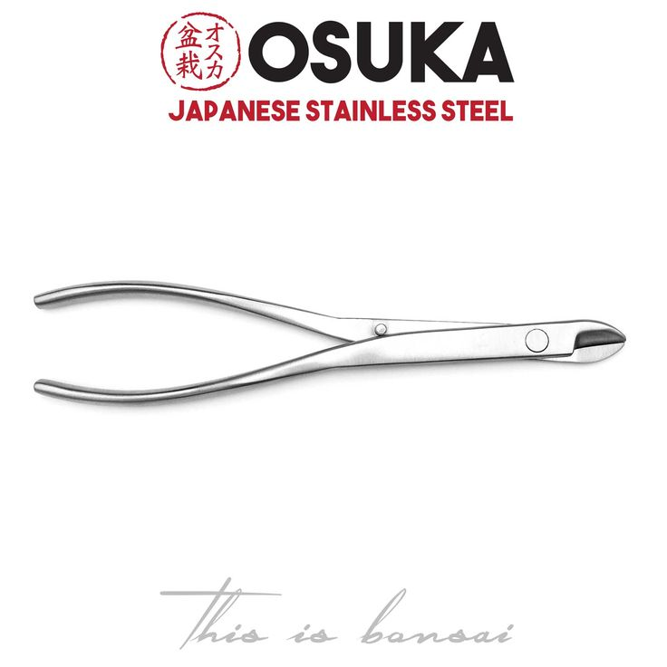 • OSUKA Long Bonsai Wire Cutters  • Length – 210mm  • Finish – Silver  • Material – High Quality Japanese Stainless Steel