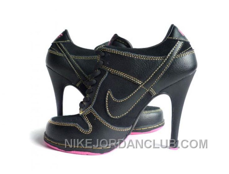 http://www.nikejordanclub.com/womens-nike-dunk-high-heels-low-shoes-black-pink-for-sale.html WOMEN'S NIKE DUNK HIGH HEELS LOW SHOES BLACK/PINK FOR SALE Only $77.10 , Free Shipping!