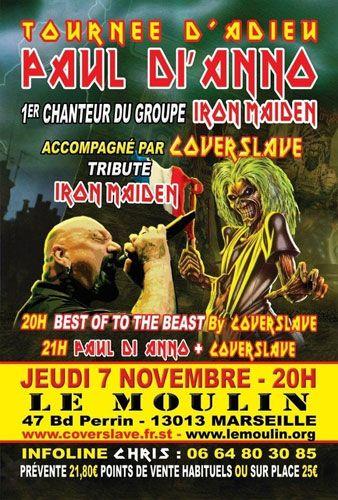 Paul Di'Anno et Coverslave : compte-rendu d'un concert exceptionnel à Marseille le 7 novembre 2013 | Cinealliance.fr