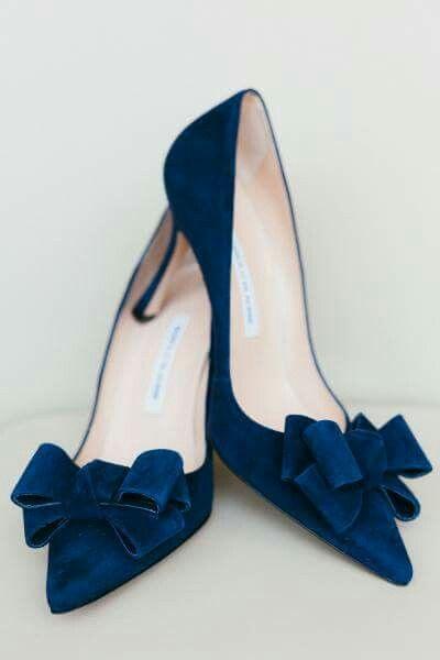 Blue suede heels via SMP on Facebook