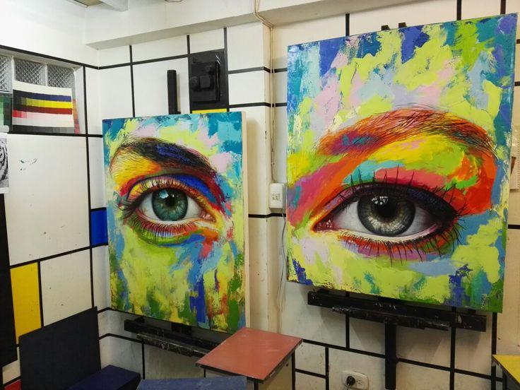 Oleo sobre lienzo, por Patricia Vesga, de la serie Espejos del Alma
