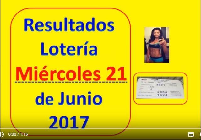 Resultados Sorteo del Miercoles 21 de Junio 2017 Loteria Nacional Panama : Loteria 21 de Junio 2017