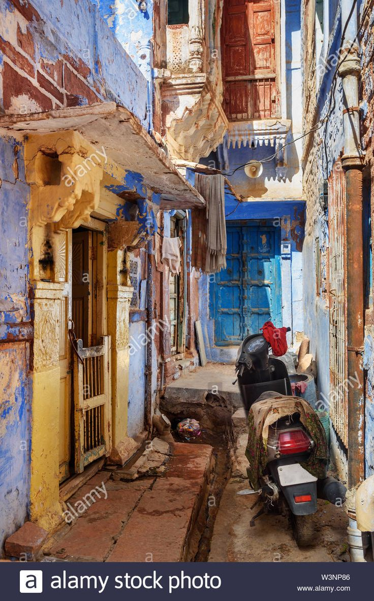 Download this stock image On narrow blue streets of the