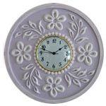 Tropical Hibiscus Wall Clock