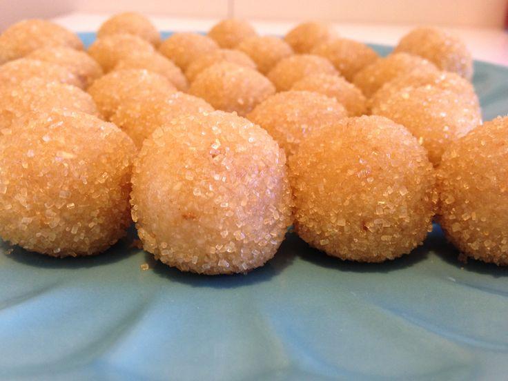 Palline+di+mandorle+agli+agrumi+(ricetta+dolce)