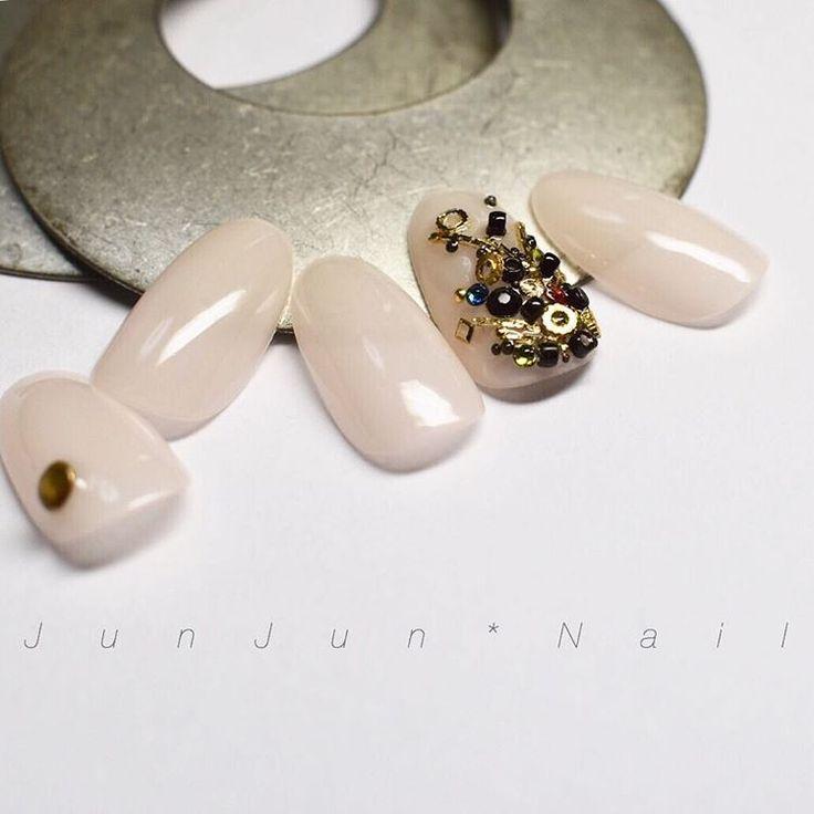 いいね!111件、コメント1件 ― J u n J u n  * N a i lさん(@junjun_nail)のInstagramアカウント: 「・ 宝石のなる木をイメージ . 春らしく優しいカラーと^_^ . . .…」