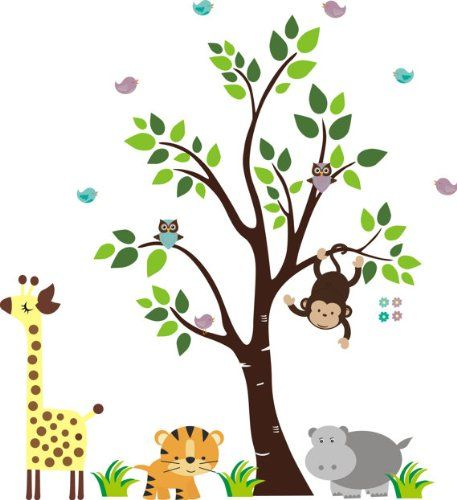 Baby Nursery Wall Decals Safari Jungle Childrens Themed 85 Part 95