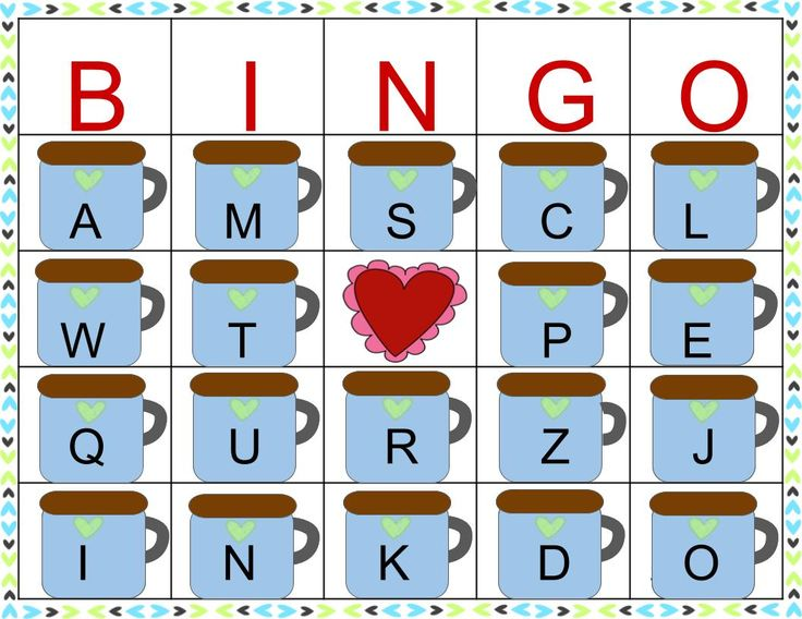 Practice letter sounds and identification with this fun winter bingo game! Use Mini marshmallows as markers and save extra for snacking! Valentine's Day bingo, letter bingo, holiday party bingo, holiday bingo, winter letter practice, letter sound correspondence, letter ID.