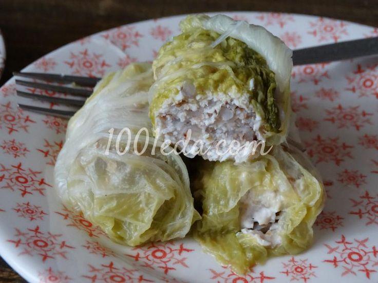 Голубцы из пекинской капусты с курицей и гречкой