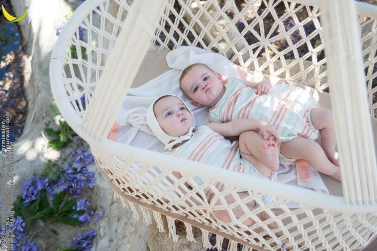 Hanging Crib In A Oval Shape 174 In Macrame With Handmade