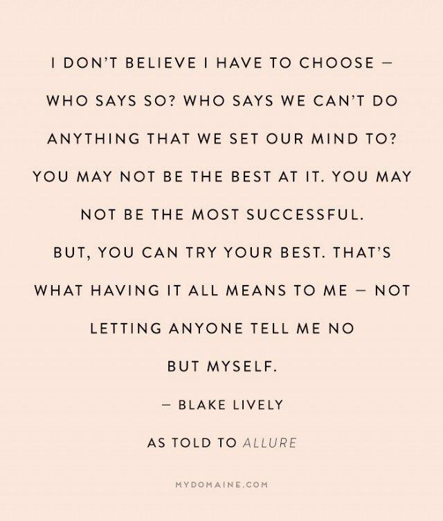 7 Inspiring Blake Lively Quotes on Motherhood via @mydomaine