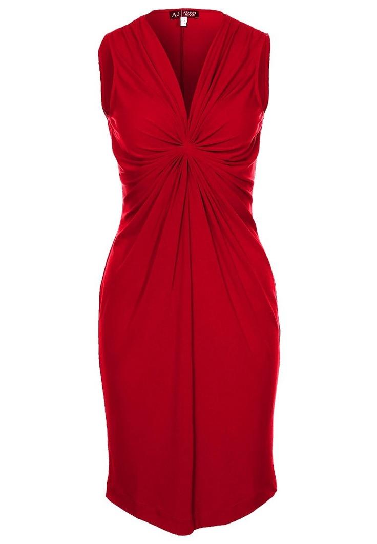 Zeer flatterende en verleidelijk #rode #jurk van Armani Jeans @ Zalando