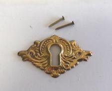 Antike französische Messingplatte Schlüsselloch