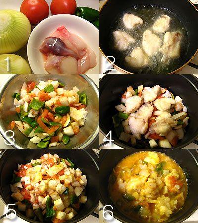 あんこうの煮込み:スペイン料理簡単レシピ集