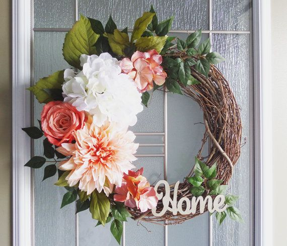 Items similar to Floral Wreaths | Wreaths | Front Door Wreaths | Outdoor Wreaths | Summer Wreath | Hydrangea Wreaths on Etsy
