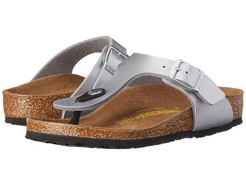 Birkenstock Gizeh Sandal in Silver #Birkenstock  #Birkenstock #shoes #fashion #casual #kids #sandals