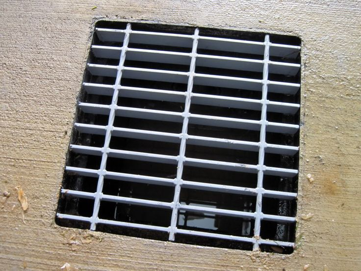 he went to steel place and had them cut scrap steel grating to size for 12x12 plastic drain box.  I wonder if he replaced the cover that came on the plastic box?  Looks like it KMB