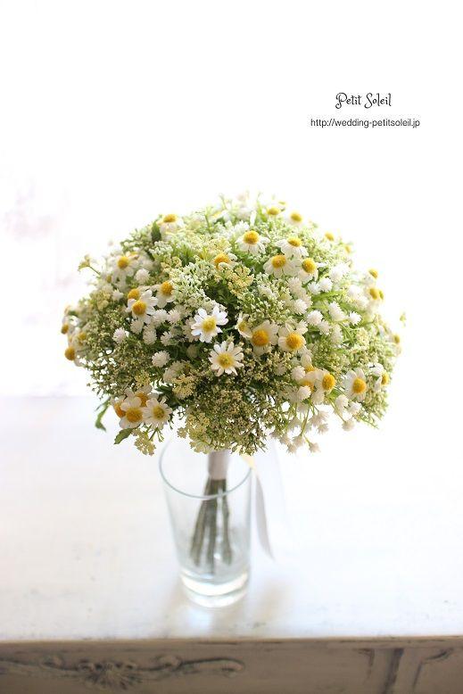 カスミソウ カモミール ブーケ gypsophilaelegans chamomile bouquet