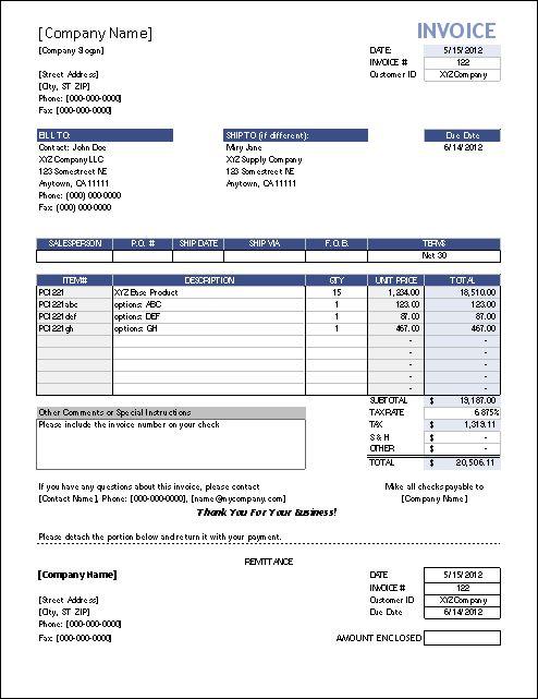 receipt template mac
