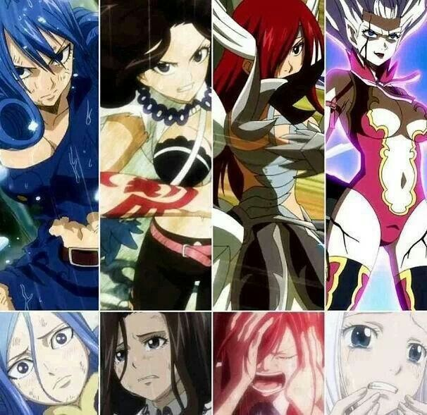 Fairy Tail girls. Maybe they look so much strong, but into their minds are very weak and fragile. They can cry... They can feel the pain. They are broken in their minds. They're girls.
