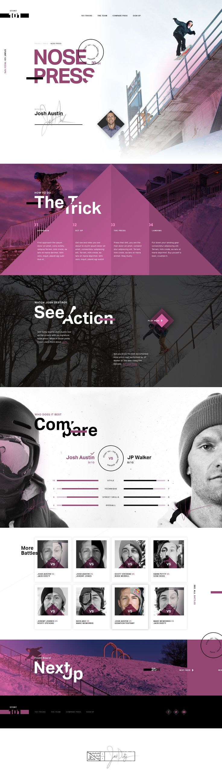 #amazing #ui #ux #site #web #design #skate
