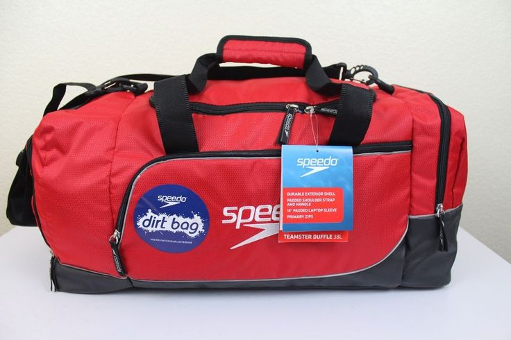 Speedo Teamster Duffel 38L Sport Gym Bag With 15 Padded Laptop Sleeve Red Luggage Ebay