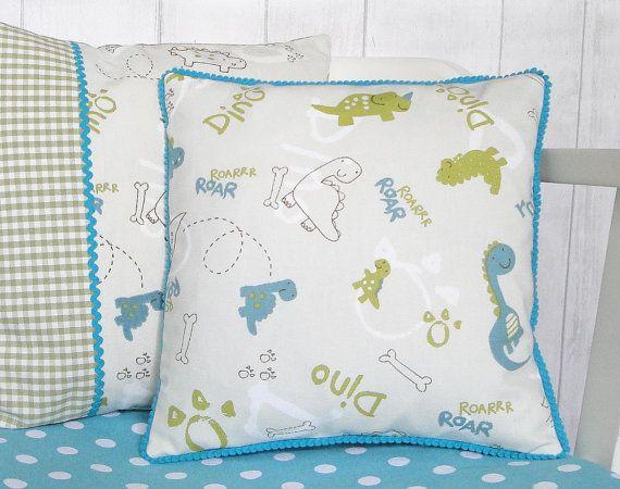 Personalised Children's Cushion Dinosaur by HolmemadeWithLove