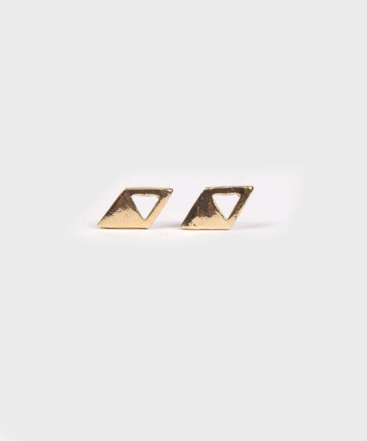 Triangle Studs  |  Gold Plated