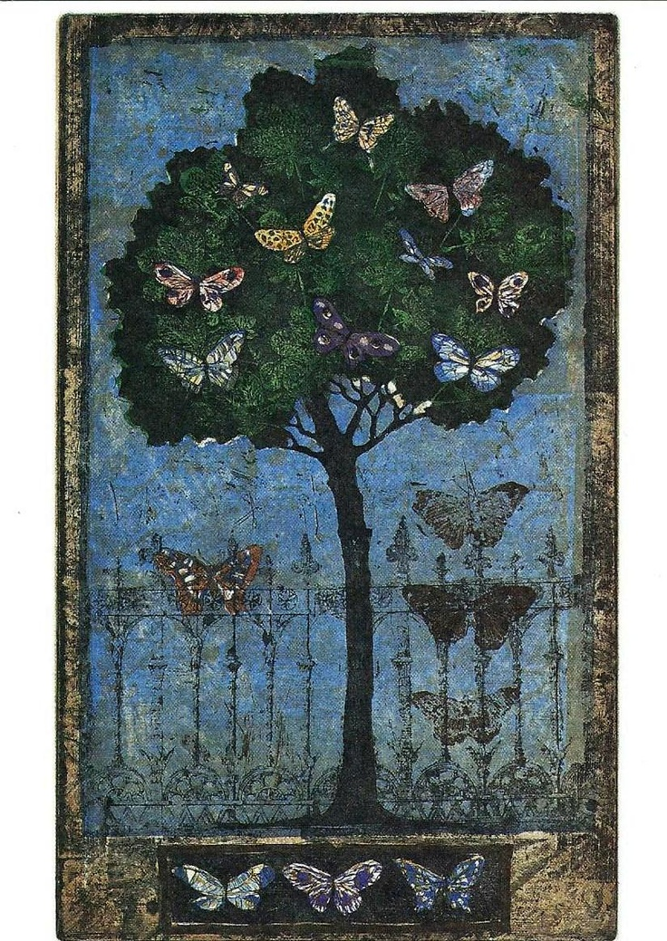 Kirsi Neuvonen. Perhospuu, 1996, 33x20 cm