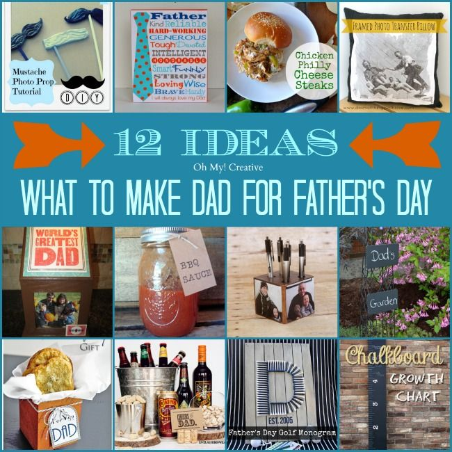 What To Make Dad For Father's Day - 12 Ideas - Oh My Creative