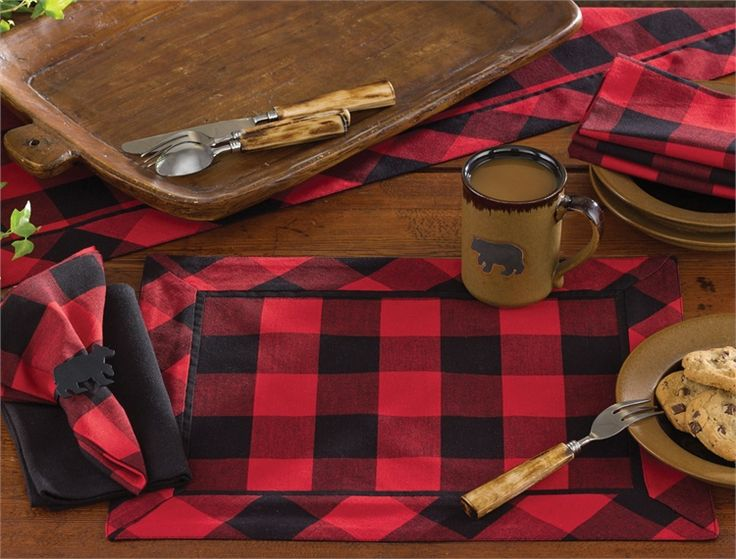Buffalo Check Placemat Kitchen Tabletop Pinterest