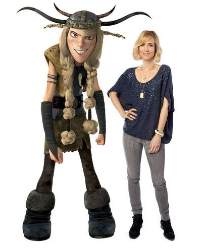 Kristen Wiig voices Ruffnut in 'How to Train Your Dragon'