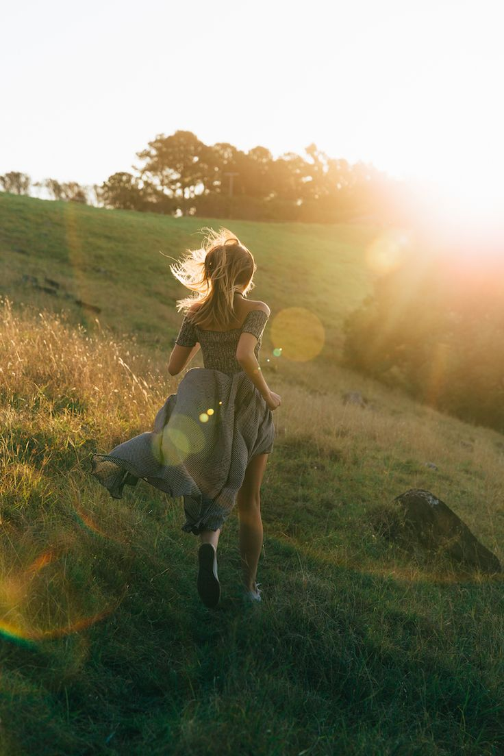 Chasing the sun - running barefoot on the meadow, wild and free. Feeling that summer breeze on my skin. Breathing in every moment and wishing that this feeling lasts forever.